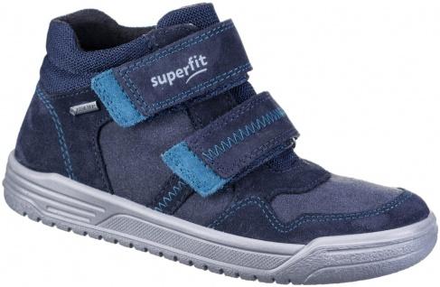 SUPERFIT Jungen Leder Sneakers blau, Goretex Ausstattung, mittlere Weite