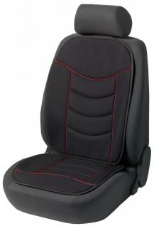 weiche Universal Auto Sitzauflage Elegance schwarz rot hohes Rückenteil, 30 G...