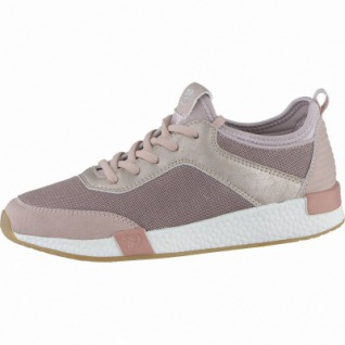 TOM TAILOR modische Damen Synthetik Sneakers old rose, Tom-Tailor-Memory-Effect-Fußbett, Barfußschuh, 1238205/36