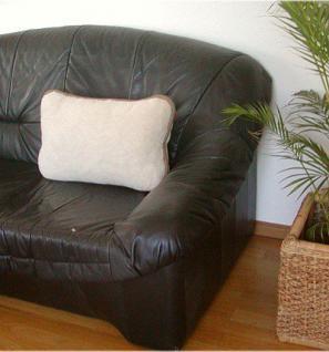 Kissen, Wollkissen aus reiner Merino Wolle beige/hellbraun mit RV und Füllung, waschbar, ca. 40x60 cm