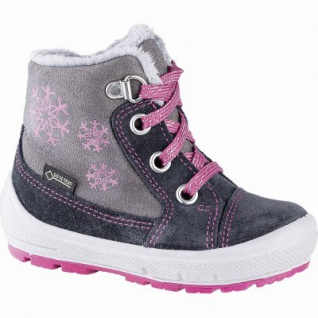 Superfit Mädchen Leder Lauflern Tex Boots grau, mittlere Weite, molliges Warmfutter, herausnehmbares Fußbett, 3241109/26