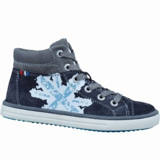 Lurchi Spike sportliche Jungen Leder Sneakers charcoal, Lederfutter, Lurchi Leder Fußbett, mittlere Weite, 3336188/32
