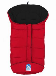 molliger Baby Winter Fleece Fußsack rot-schwarz, voll waschbar, für Kinderwagen, Buggy, ca. 98x47cm