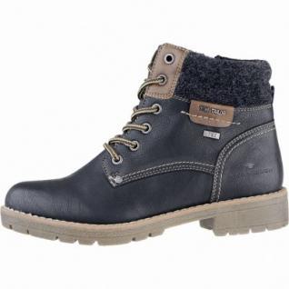 TOM TAILOR sportliche Damen Synthetik Winter Boots schwarz, Warmfutter, Tex Ausstattung, 1639282