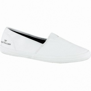 TOM TAILOR bequeme Damen Textil Slippers white, gepolsterte Tom-Tailor-Decksohle, 1240175/38