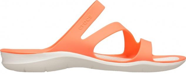 CROCS TM SHOES Swiftwater Sandal W Damen Pantoletten grapefruit, flexible Rie...