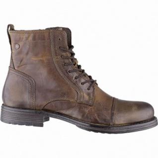 Jack&Jones JFW Russel Herren Leder Boots cognac, 14 cm Schaft, Textilfutter, herausnehmbare Einlegesohle, 2541103