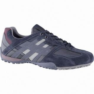 Geox sportliche Herren Leder Sneakers navy, Meshfutter, chromfrei, herausnehmbare Einlegesohle, 2141112/44