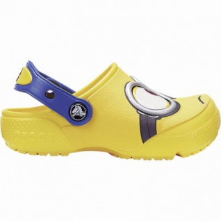 Crocs Fun Lab Minions Clog coole Mädchen, Jungen Clogs yellow, weiche Laufsohle, 4340122/29-30
