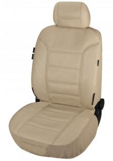 ZIPP IT Universal Echt Leder Auto Sitzbezug beige, RV System, Leder Auto Schonbezug
