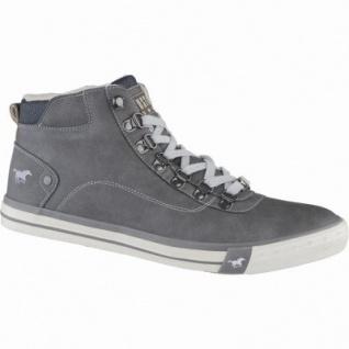 Mustang modische Herren Leder Imitat Winter Sneakers dunkelgrau, molliges Warmfutter, warme Decksohle, 2539108