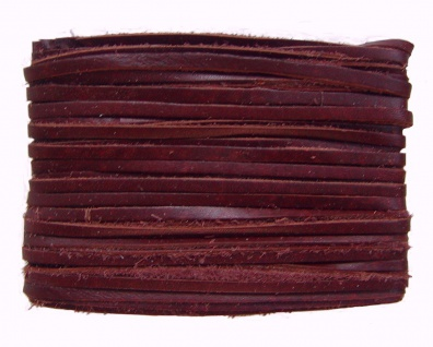 weiches Leder Flechtband Ziegenleder auf Karte weinrot, Länge 10 m, Breite ca...