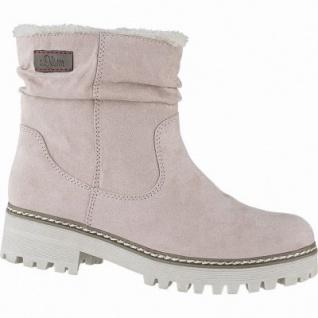 s.Oliver coole Damen Velourleder Imitat Winter Boots rose, molliges Warmfutter, Soft-Foam-Fußbett, 1641109