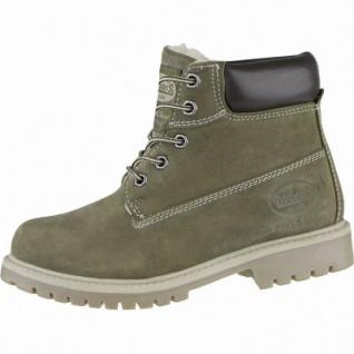 Dockers coole Damen Leder Winter Boots oliv, Warmfutter, Dockers Profilsohle, 3739178