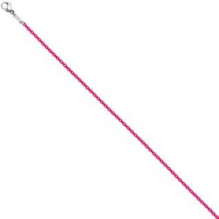 Rundankerkette Edelstahl pink lackiert 50 cm Kette Halskette Karabiner