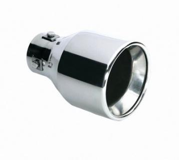 LAMPA TS-36 Universal Edelstahl Auspuff Blende, Endrohr, Ø 36-42 mm, 150x100 mm, Endtopf, Auspuffrohr, Sportauspuff