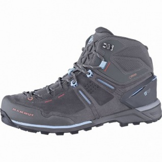 Mammut Alnasca Pro Mid GTX Women Damen Leder Outdoor Boots graphite, Base Fit, anatomisches Fußbett, 4441167/5.5