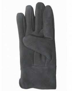 Herren Velourleder Lammfell Fingerhandschuhe lang aus Fellstücken dunkelgrau, Herren Fell Handschuhe, Größe 11 - Vorschau 2