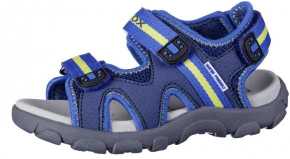 GEOX Jungen Leder Imitat Sandalen blue, atmungsaktive Geox Laufsohle