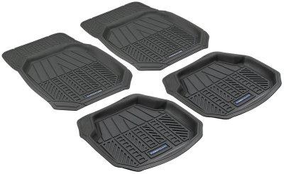 Universal Komplett Auto Gummimatten Schalen schwarz 4-tlg. zuschneidbar, 4 cm Tiefe, Anti Slip, rutschhemmend, Auto Fußmatten