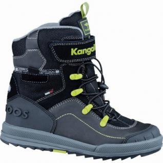 Kangaroos Adrian coole Jungen Winter Leder Tex Boots schwarz, Warmfutter, weiches Fußbett, 4537102/35