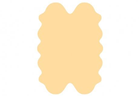exklusive Lammfell Fellteppiche beige gefärbt, 4 Einzelfelle, waschbar, Haarl...