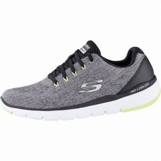 Skechers Flex Advantage 3.0 coole Herren Mesh Sneakers grey, Air-Cooled Memory Foam-Fußbett, 4242119/39