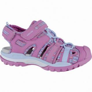Geox modische Mädchen Synthetik Sandalen fuchsia, weiches Geox Fußbett, Antishock, 3540131