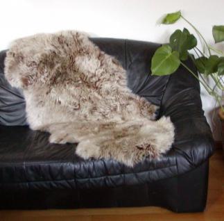 Chamier australische Doppel Lammfelle aus 1, 5 Fellen capuccino, Haarlänge ca. 50-70 mm, voll waschbar, ca. 160 cm