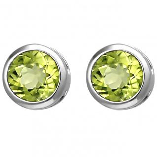 Damen Ohrschmuck, Ohrstecker 925er Sterling Silber mit grünem Peridot, Damen ...