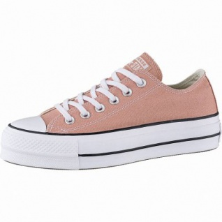 Converse Chuck Taylor All Star Lift - Ox Damen Canvas Sneakers desert peach, 40 mm Plateausohle, 4142135/36