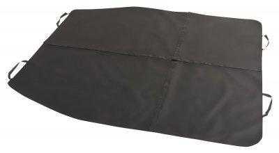 Polyester Auto Multi Funktions Decke schwarz 4-teilig mit Klett, 16 verschiedene Möglichkeiten, 155x140 cm, PKW Schondecke