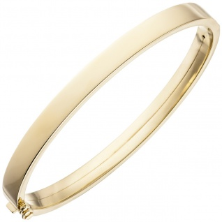 Armreif Armband oval 375 Gold Gelbgold Goldarmband Goldarmreif