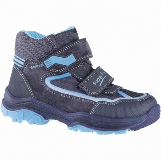 Superfit Jungen Winter Synthetik Gore Tex Boots blau, angerautes Futter, warmes Fußbett, 3741150/34
