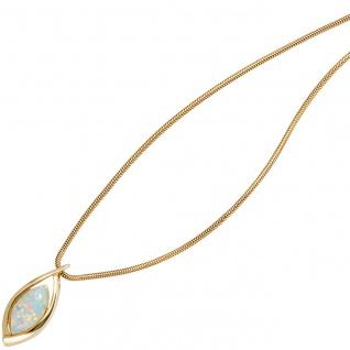 Anhänger 375 Gold Gelbgold 1 Opal Goldanhänger