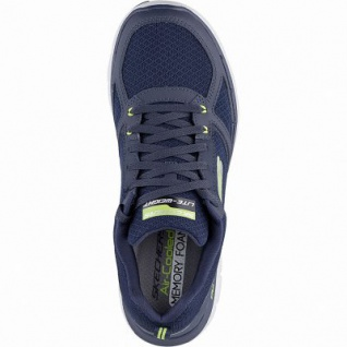 Skechers Flex Advantage 2.0 coole Herren Mesh Sneakers navy, Air-Cooled Memory Foam-Fußbett, 4242124/39 - Vorschau 2
