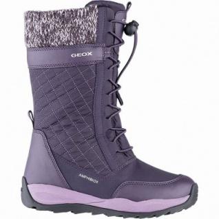 Geox Mädchen Winter Synthetik Amphibiox Stiefel purple, 20 cm Schaft, molliges Warmfutter, Einlegesohle, 3741113