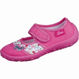 Beck Papillon Mädchen Textil Hausschuhe pink, Baumwollfutter