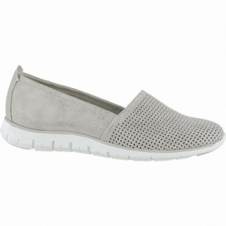 Marco Tozzi coole Damen Metallic Leder Slipper dune, gepolsterte Feel me Decksohle, 1240152/39