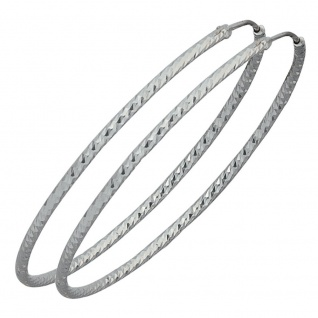 Creolen rund 925 Sterling Silber Ohrringe Silberohrringe Silbercreolen