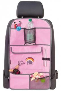 Polyester Kinder Auto Rücksitz Organizer mit Taschen rosa, PKW Rückenlehnen S...