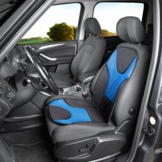 extra weicher Universal Auto Sitzaufleger Grafis blau, hohes Rückenteil, 9 mm Schaumstoff, waschbar, PKW Sitzschoner - Vorschau 2