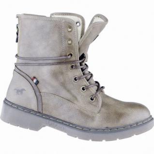 Mustang kuschlige Damen Synthetik Boots taupe, Warmfutter, warme Mustang Decksohle, 1639298/37