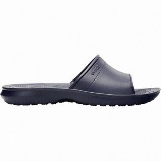 Crocs Classic Slide bequeme Damen, Herren Pantoletten navy, weiche Laufsohle, 4340113/36-37