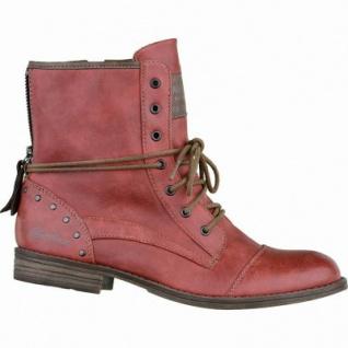 Mustang modische Damen Leder-Imitat Boots rot, Microfutter, 1637212/36