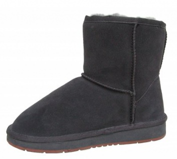 Heitmann Felle Damen Lammfell Leder Winter Boots anthrazit, warme Laufsohle, trendige Profilsohle, Lammfell Futter, Gr. 36