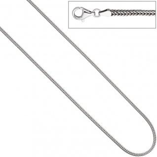 Fuchsschwanzkette 925 Silber 2, 5 mm 45 cm Kette Halskette Silberkette Karabiner
