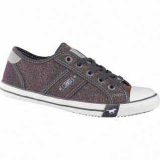 Mustang coole Mädchen Synthetik Metallic Sneakers Low beere, Mustang-Laufsohle, 3338123/34