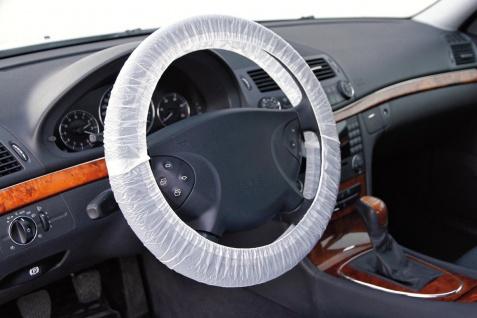LAMPA 100 Stück Polyethylen Lenkrad Schutzfolie für Lenkräder bis max. 43 cm ...
