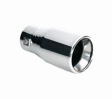 LAMPA TS-35 Universal Edelstahl Auspuff Blende, Endrohr, Ø 36-42 mm, 145x75 m...